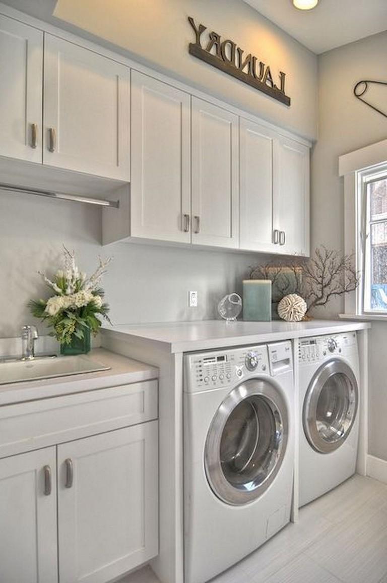 80+ Amazing Small Farmhouse Laundry Room Decor Ideas on Amazing Laundry Rooms  id=91782