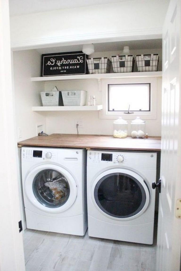 80 Amazing Small Farmhouse Laundry Room Decor Ideas